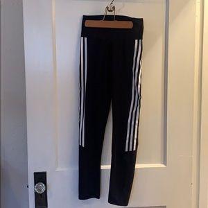 Adidas Standard19 3 stripe and mesh legging size S